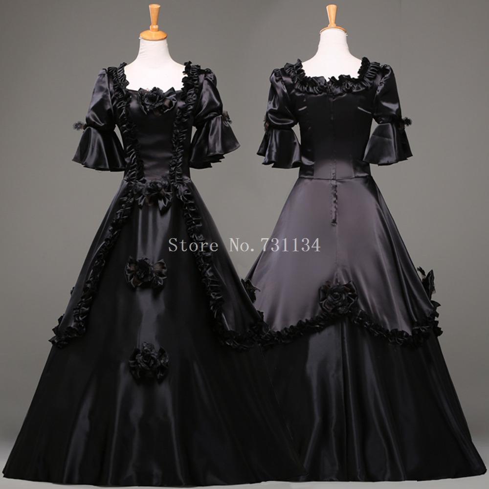 hot sale black halloween party dress for women vintage