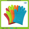 Five fingers silicone heat resistant oven BBQ gloves,silicone pot holder