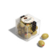 Plastic Candy Cube Box With Lid Martini Olive Almonds Package Cube Clear 55mm Acrylic Candy Cube