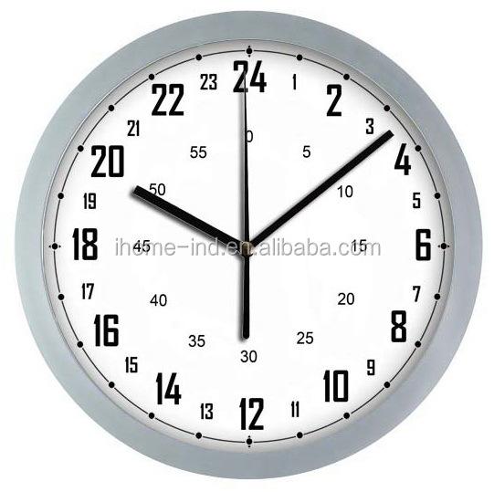 1df64372956 2015 novos produtos na china 24 hora analógico relógio de parede de metal  relógio ...