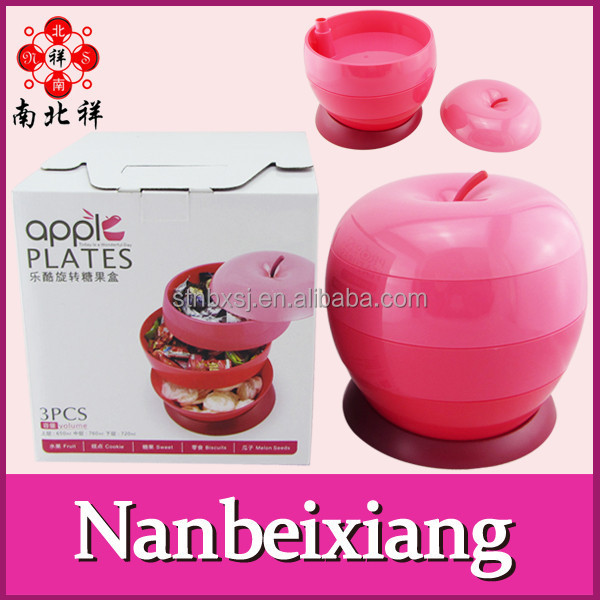 5 Layer Plastic Fruit Shape Candy Gift Box