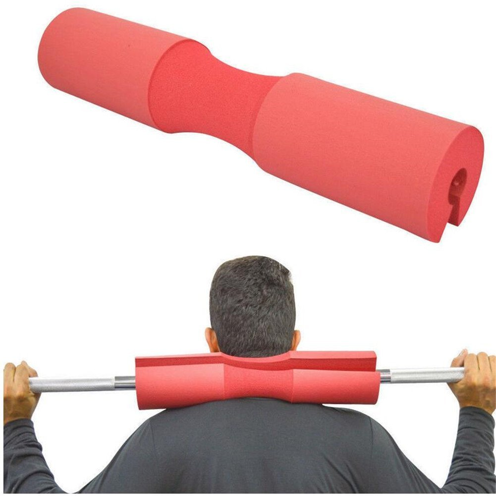 VALINK 1 Piece Squat Barbell Pad, Supports Squat Bar Weight Lifting Pull Up Gripper Neck Shoulder Protective Pad, Sponge Gym Fitness Weight Lifting Barbell Pad Support for Squats, Lunges & Hip Thrusts