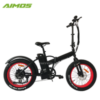 2018 China factory high quality 20 inch fat wheel folding e bike