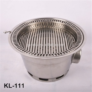 korean bbq roaster,round portable stainless steel charcoal bbq grill
