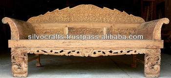 Royal Antique Indian Carved Teak Wooden Furniture From Jodhpur Rajasthan Hand Wood