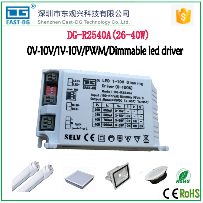 Edge R2540 0-10v/1-10v/pwm Dimming Function 40w Constant Current Led  Dimmable Driver For Led Light 12v 1a Switch Power Supply - Buy Pwm Dimmable  40w