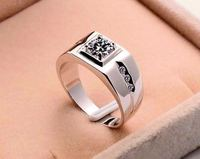 Fashion 925 Sterling Silver Jewelry Men Diamond Engagement Ring in china
