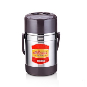 Stainless Steel Braised pot Vacuum Insulated Lunch Box Heat Insulation Three Containers Thermos Food Jar braised pot