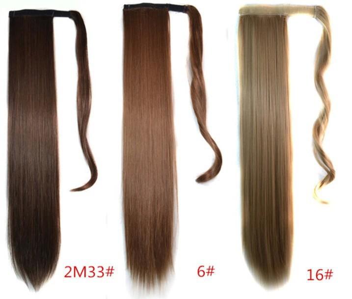 Женщины хвостики 19 цветов мода парики 22