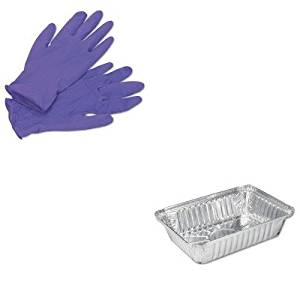 KITHFA206230KIM55082 - Value Kit - Handifoil 206230 Oblong Aluminum Container, 8 7/16quot; x 5 15/16quot; x 1 13/16quot; (HFA206230) and KIMBERLY CLARK PURPLE NITRILE Exam Gloves (KIM55082)