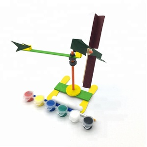 DIY Toy Wooden Anemometer Fun Kids Science Kit Learn