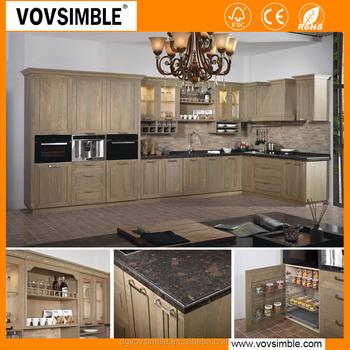 Modern solid wood kitchen cabinet buy kitchen cabinet for Solid wood modern kitchen cabinets