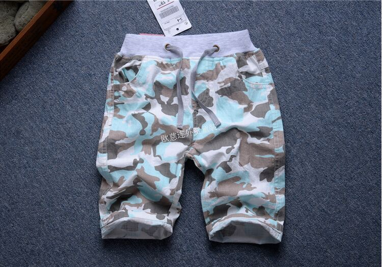summer cotton linen school boy casual shorts children fashion board shorts cool light boys loose Camouflage