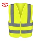 Wholesale Hs Code High Visibility Construction With Logo Printing Yellow Motorcycle Reflective Safety Vest Class 2