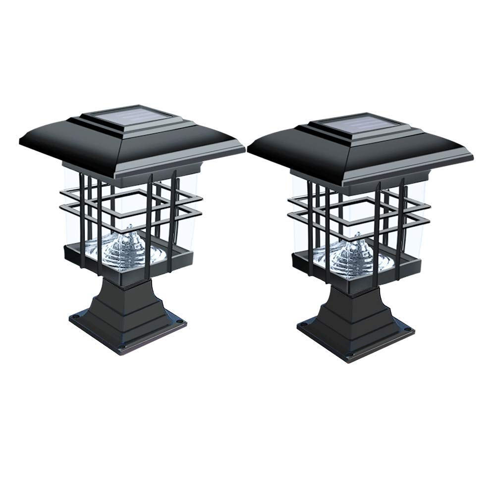 WZTO Solar Garden Light, LED Pillar Lights Lamps Outdoor 30 Lumens Waterproof Durable Led Solar Light for Walkway, Patio, Street Night Lamps (2 Pack)