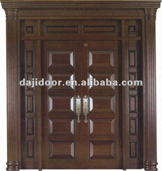 Luxury Solid Wood Entrance Door Gate Design Dj-s8436sths - Buy Door ...