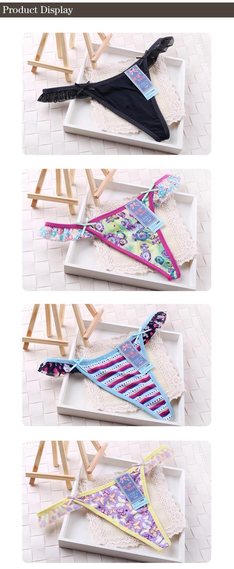 Factory price popular beautiful fancy little girls panties thongs