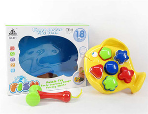 New design hammer toys plastic hamster block on fish with sand sound educational toy for kids