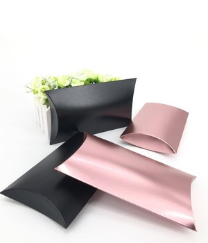 2016 E&A TOP selling paper pillow shaped gift boxes with handle