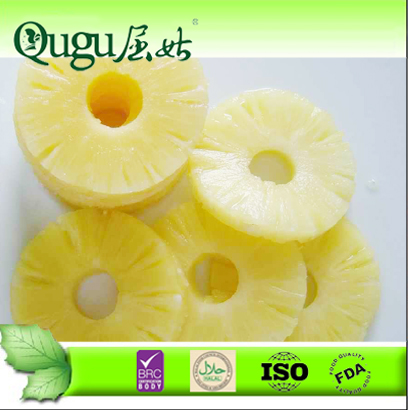 2014 New crop canned pineapple rings manufacturer price