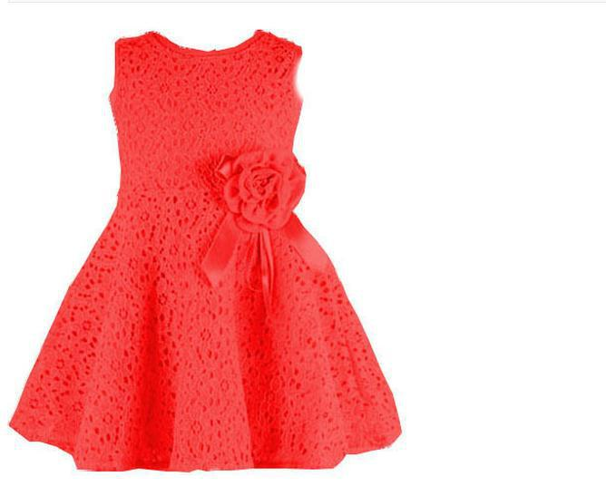 308f8f36b99 Get Quotations · Free Delivery! 2015 summer new children s clothing girls  princess hollow lace sleeveless dress a generation