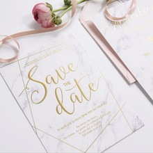 European stylish OEM printed unique handmade wedding invitation 3d envelope gift card