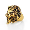Whole Sale Gold Plating Micro 316L Stainless Steel Ring Lion Head Finger Ring
