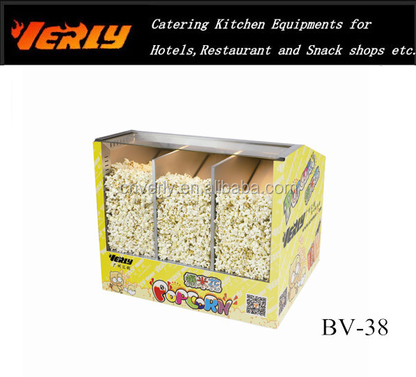 China Supplier Restaurant Equipment Hot Air Popped popcorn warmer