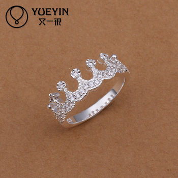 hot new model royal wedding rings crown shaped - Crown Wedding Rings