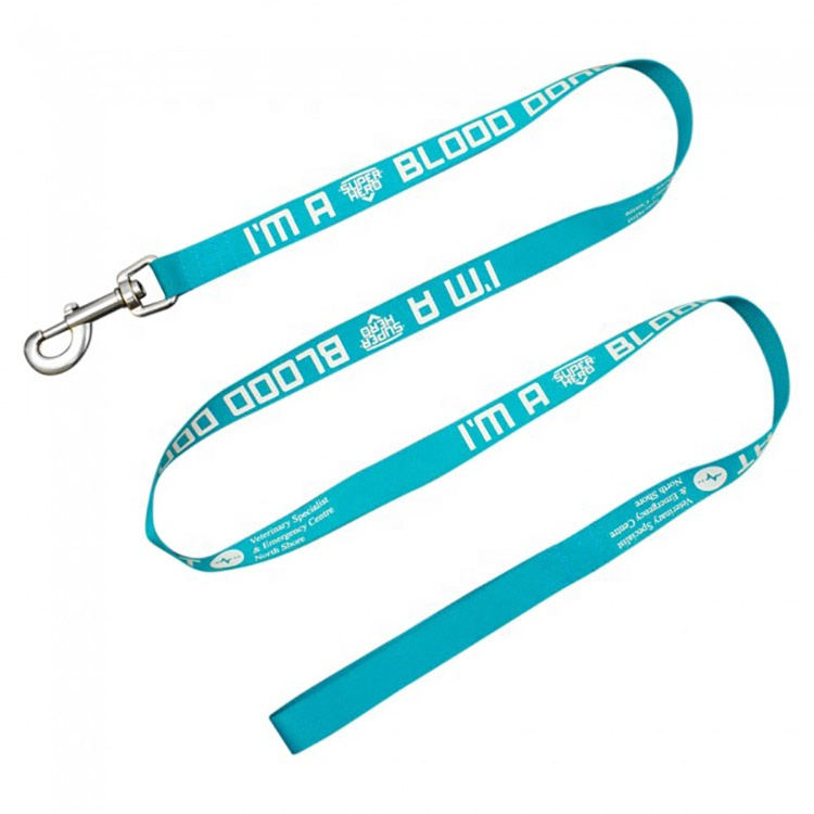 Custom wholesale print logo training working nylon dog collar run leash for small dog,nylon dog low moq leash material