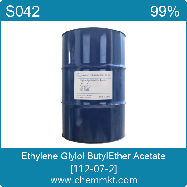 Ethylene Glylol ButylEther Acetate, 1-Acetoxy-2-butoxyethane, BCA, Ethylene glycol monobutyl ether acetate 112-07-2