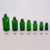 black silicone rubber bamboo dropper 5ml 10ml 15ml 20ml 30ml 50ml 100ml empty massage oil frosted green dropper glass bottle