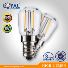 High efficiency IP20 indoor glass cover e27 1W filament cob led