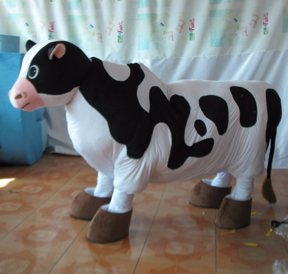 hot sale good quality 2 person cow mascot costume 2 person costume cow