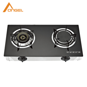 Kitchen Tempered Glass Tabletop Infrared Lpg 2 Burner Gas Stove