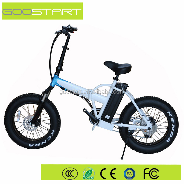 2017 hot sale 20 inch fat tire electric bike 500W foldable ebike