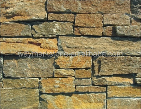 Natural Stone Panels with Concrete Back Rustic Mica Schist