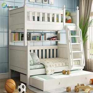 Alibaba & 2019 New Design Kids Double Deck Girls Bunk Bed Wooden Loft Children Beds Wood