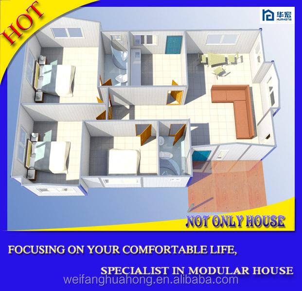 Cheap Trois Chambre Design Tropical Maisons Prfabriques Faible Cot Maison  Prfabrique Assemblez Rapide Maison Modulaire Personnalis Gratuit With Plan  Maison ...