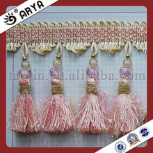 long polyester and acrylic home decor tassel,very very cheap