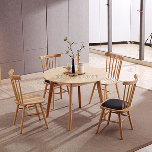 home furniture wood round dining table and wooden six famous chair designers E4001