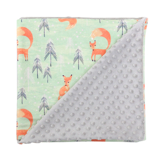 wholesale Animal Security Luxury Flannel Baby Minky Blanket