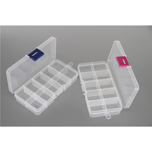 Competitive price clear small 10 grid conjoined hard plastic box