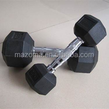 Custom Deluxe rubber hex dumbbells