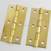 gold plated iron butt hinge for window