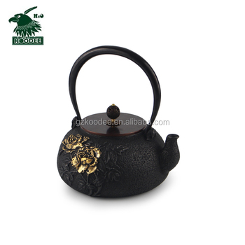 Antique food grade iron cast teapot with enamel inside