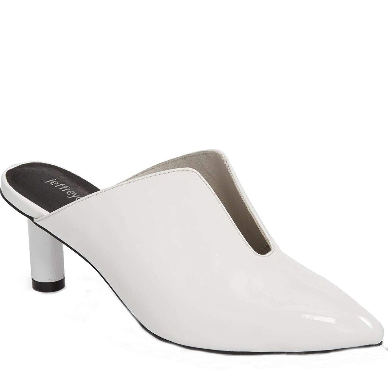 1e367667802 Get Quotations · Jeffrey Campbell Saltaire Modern Kitten Heel Mule White