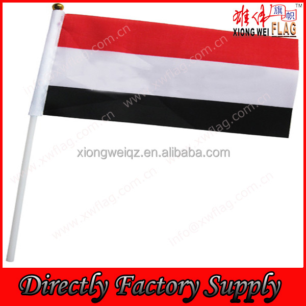 factory supply printing polyester yemen hand flags