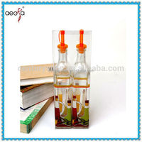 clear glass vegetable vinegar decorative bottle