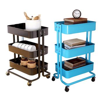 3-tier Organizer Cart Kitchen Beauty Tool Storage Cart With Wheel-gray- -  Buy 3-tier Organizer Cart,Kitchen Storage Cart,Beauty Tool Storage Cart ...